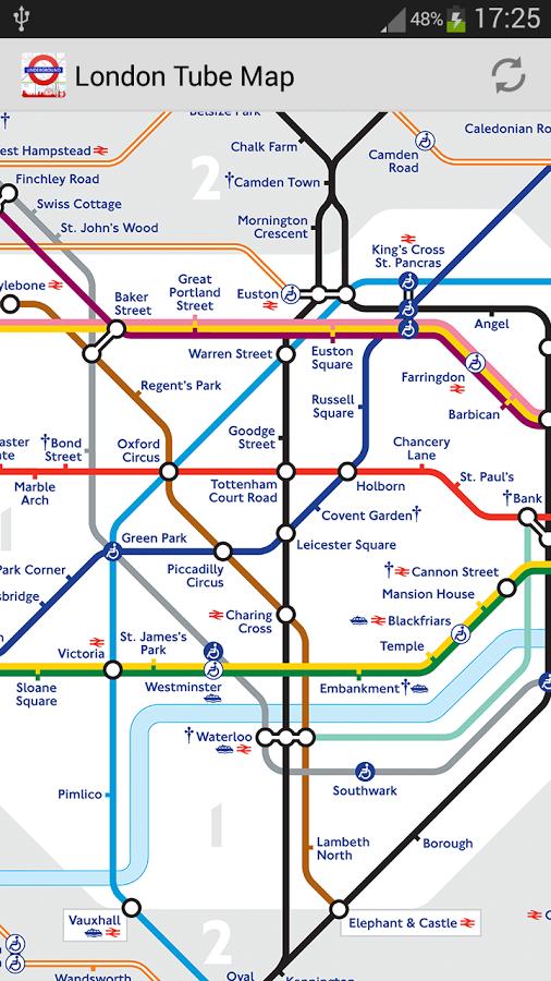 软件 地图旅游 >伦敦地铁地图