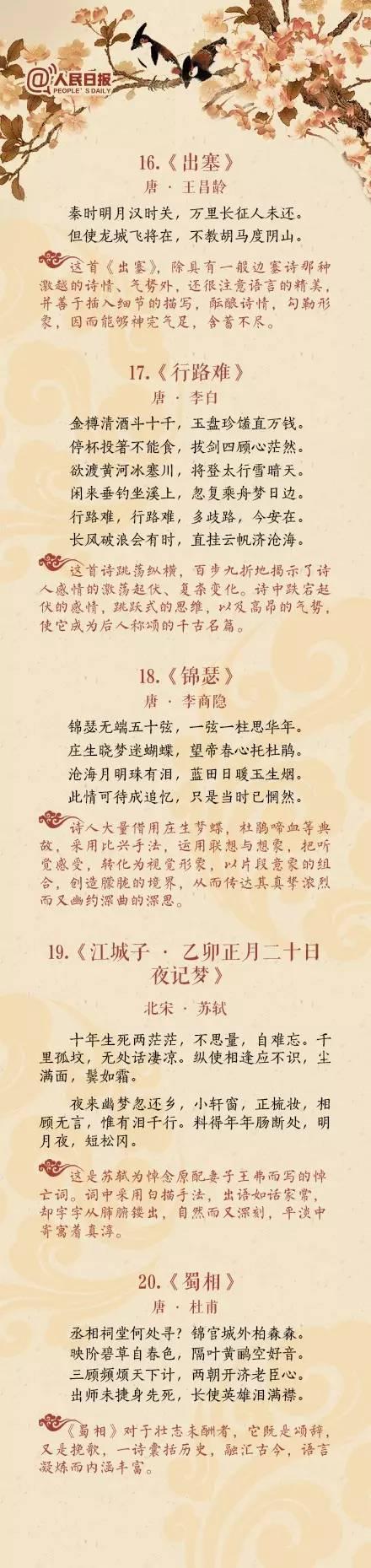 中国历史上高水平的40首诗词 - 上海云儿 - 一万年太久,只争朝夕。