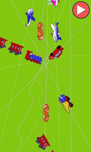 火车,汽车和飞机的孩子
