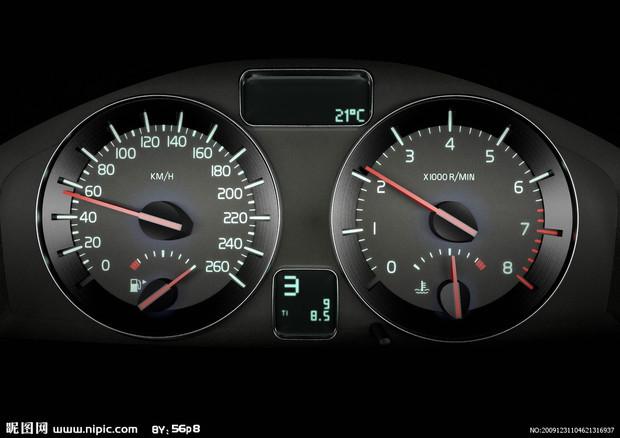 图为国外上市的全新2008款沃尔沃s40仪表信息 高清图片