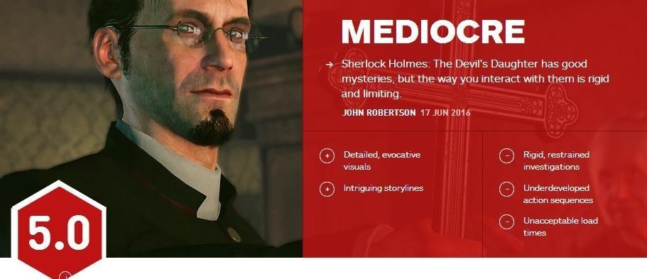 《福尔摩斯》IGN评分5.0