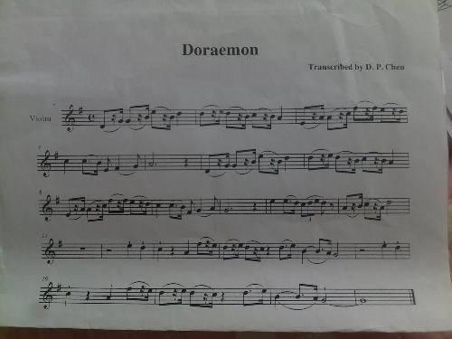 求.《哆啦a梦主题曲》:小提琴简谱