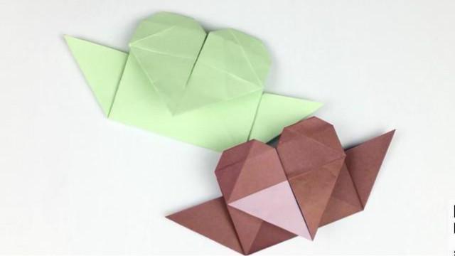可乐姐姐学折纸-爱心折纸船-360视频