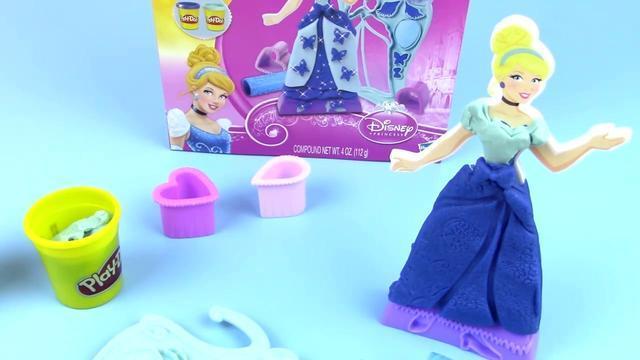 迪士尼公主 培乐多彩泥制作礼服 亲子小游戏 橡皮泥玩具