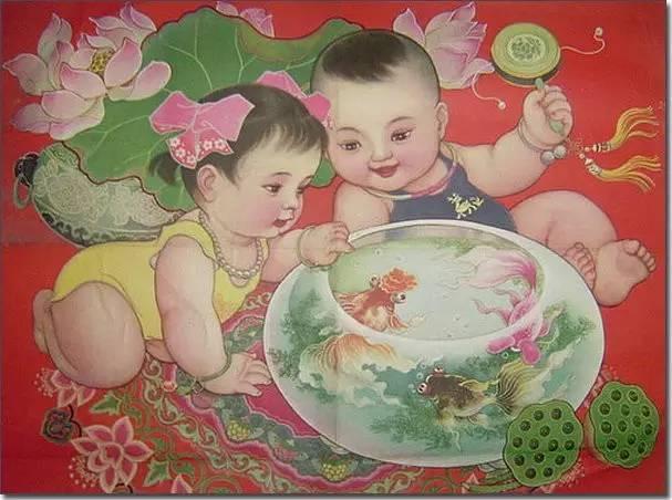 (点小图查看大图) 人们就觉得养孩子要养个像年画上的娃娃那样, 白白