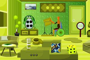 奇趣绿色房间逃脱