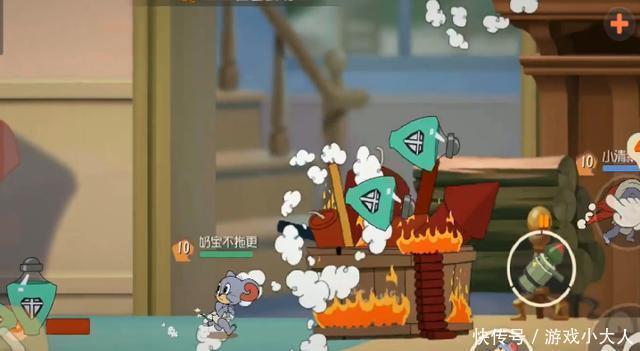 猫和老鼠:泰菲在没修复前的烟花大作战里有多无敌?猫咪被炸惨!