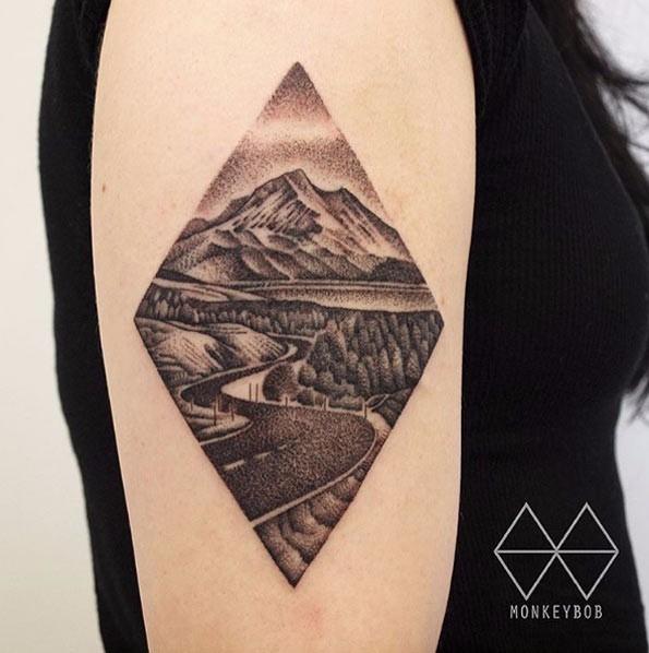36华丽的风景纹身灵感来自于自然