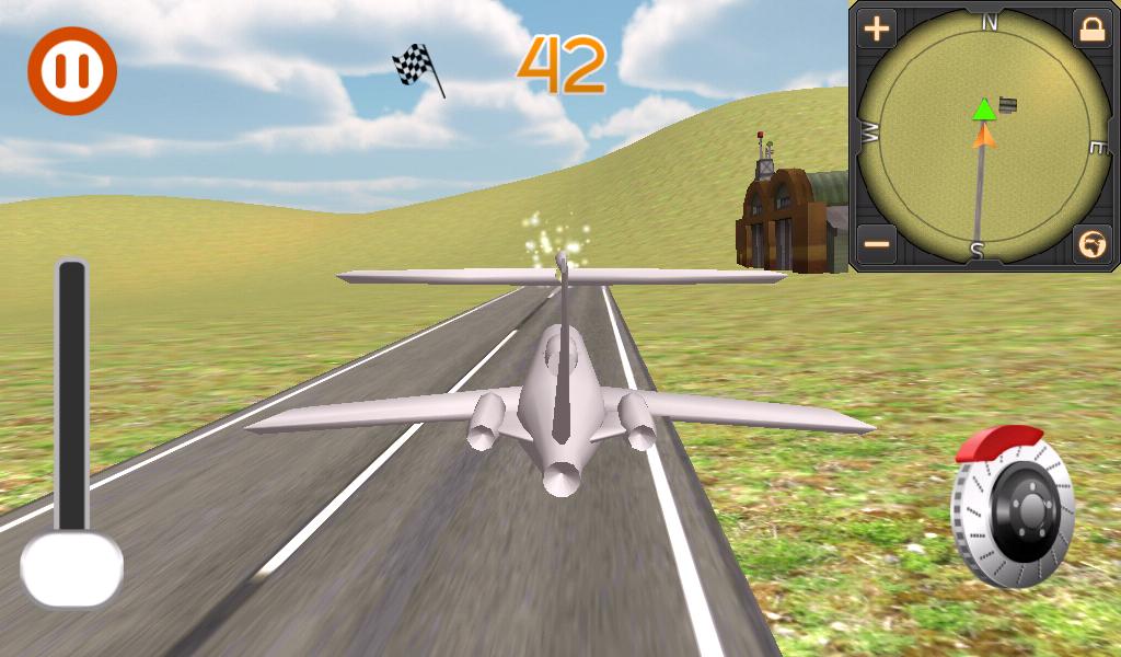 飞机飞行模拟器飞行员3d