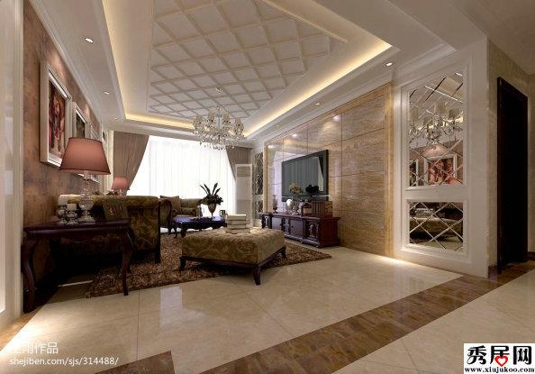 我家客厅是长方形的,还未吊顶