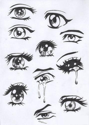 画卡通人-怎么画漫画人物眼睛