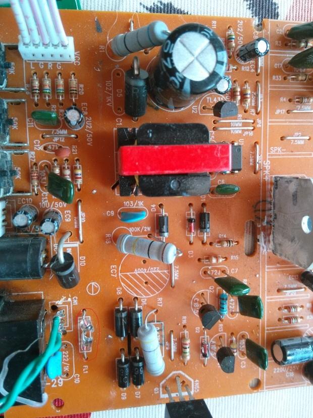 简单音箱电路板组成元件