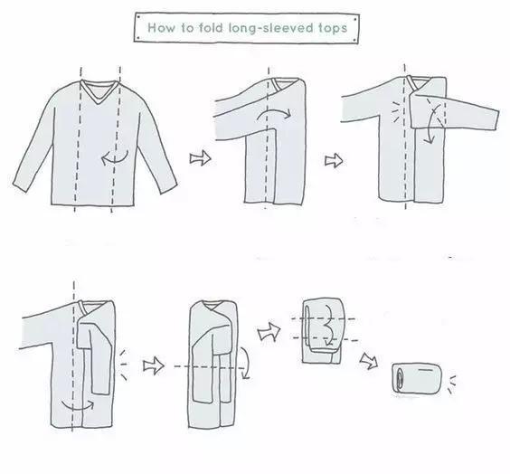 叠衣服时只要一个动作,衣服再多也不怕乱!