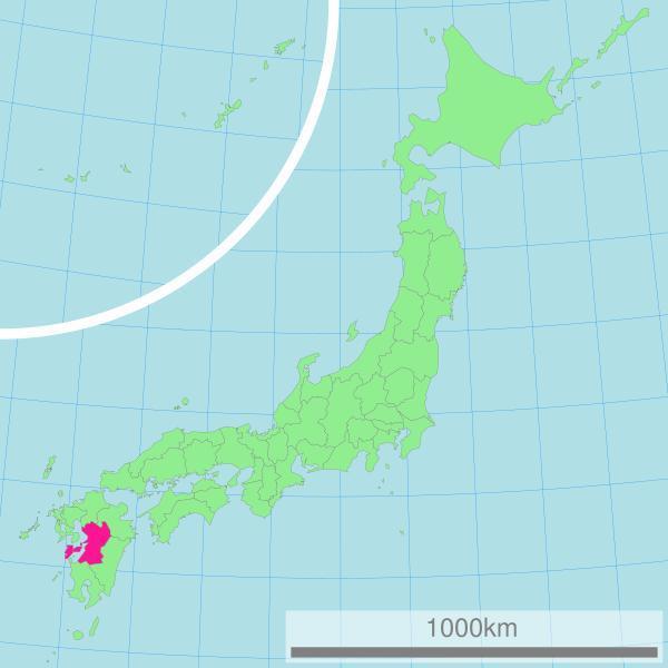 熊本县在日本的位置