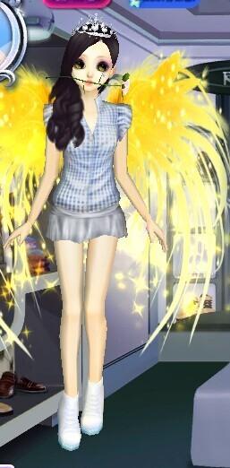qq炫舞抒情小曲 和蘑菇短裙配什么鞋子好看