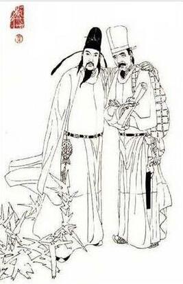 白和杜甫的简笔画头像