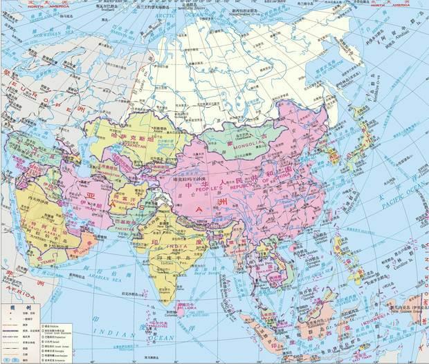 土耳其及周边国家地图