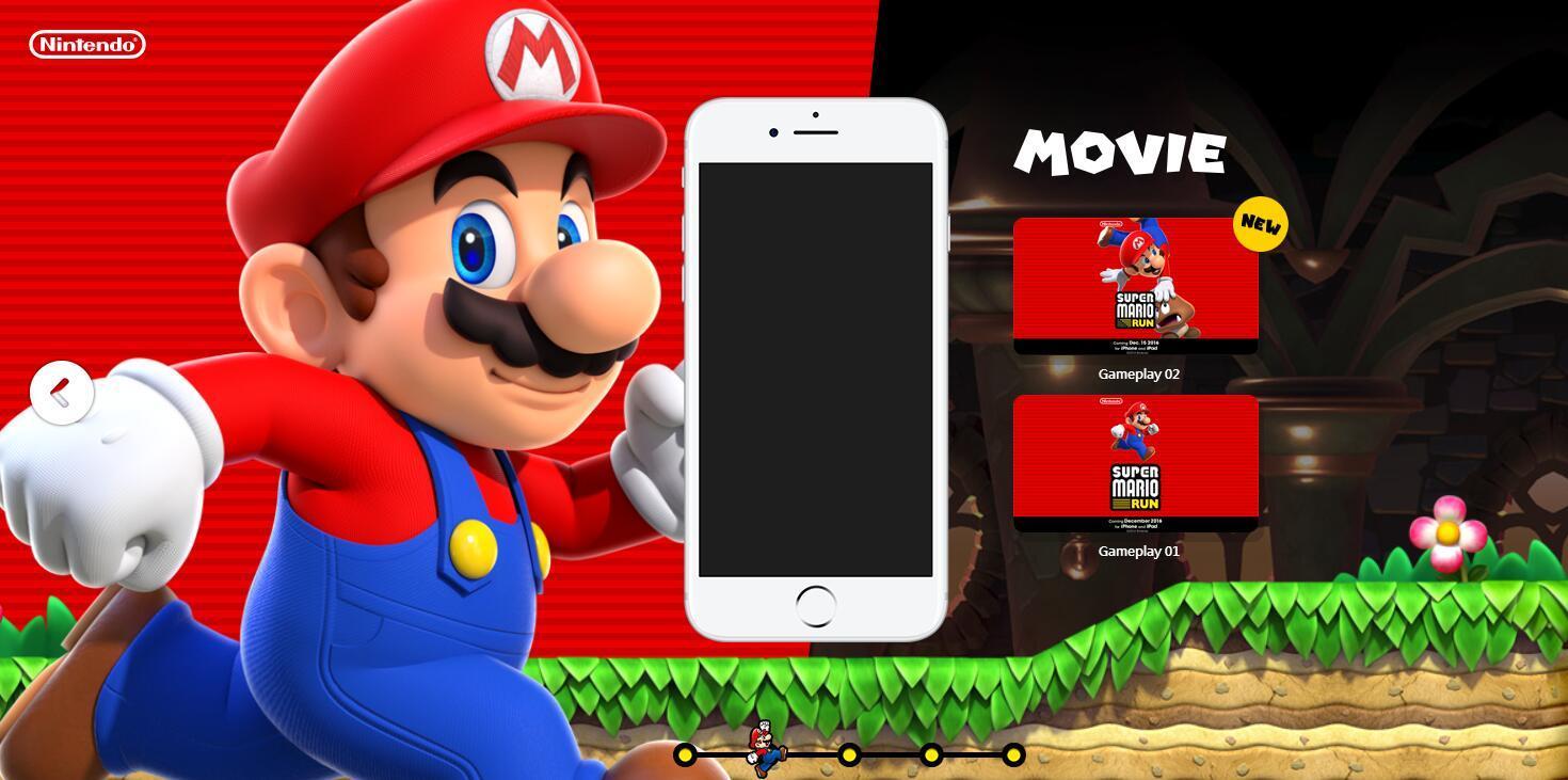 任天堂首款手机游戏《超级马里奥RUN》12月15日上线