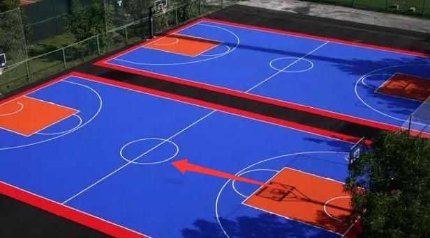 国际篮球场的标博盈娱乐准尺寸及表示图