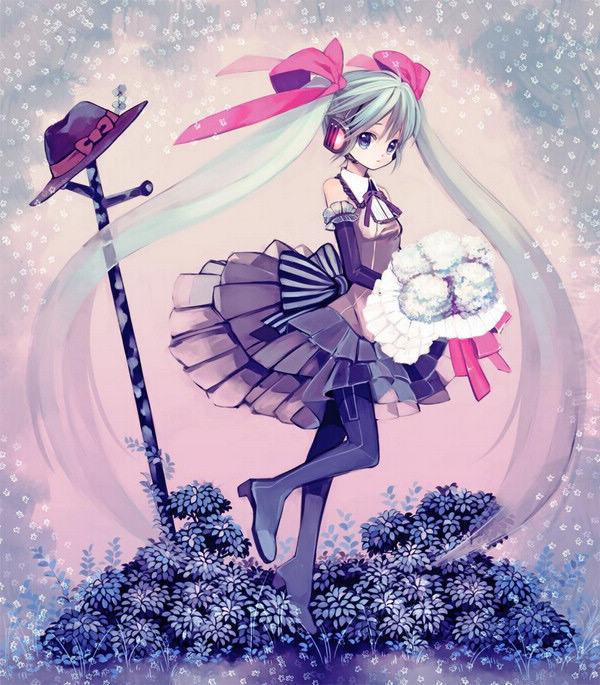 卡通少女花瓣衣服