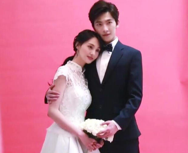 求杨洋和郑爽的婚纱照图片