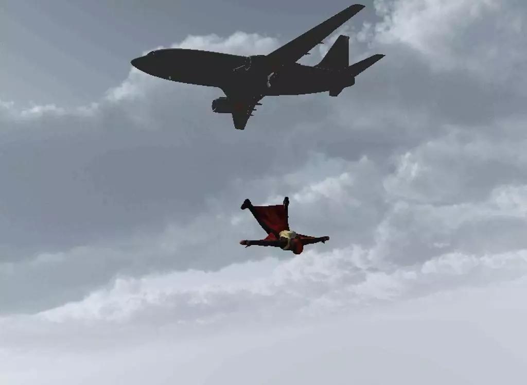 跳伞前飞机上的挂钩
