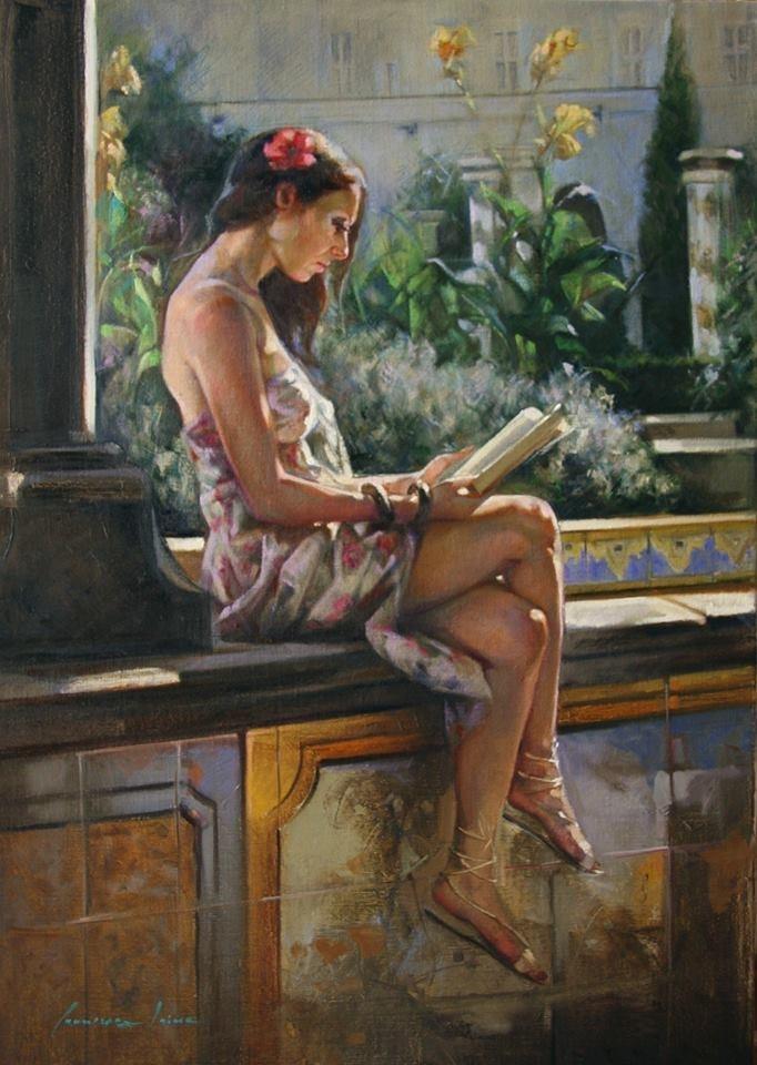 意大利女画家弗朗西丝卡油画作品欣赏