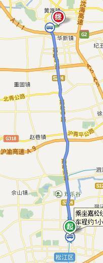 从松江方塔公园到青浦区华新镇千秋桥路怎样坐公交
