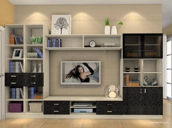 欧式电视机柜的尺寸 三联