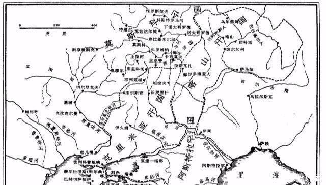 600万平方公里的钦察汗国成吉思汗的长子世袭伏尔加河蒙古