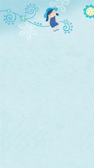 【韩国手绘动态壁纸-可爱小女生】-手机主题论坛-zol