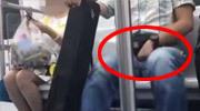 地铁男对女孩做不雅动作
