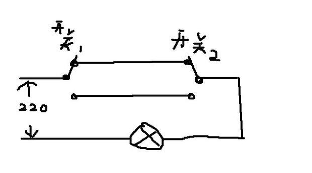 两个开关控制一个灯接线详解?