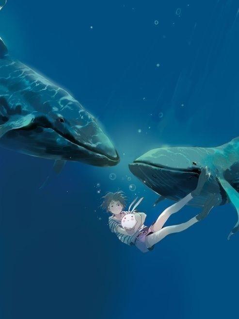 求鲸鱼的动漫图片,卡通的也行,头像还是壁纸都随便,越