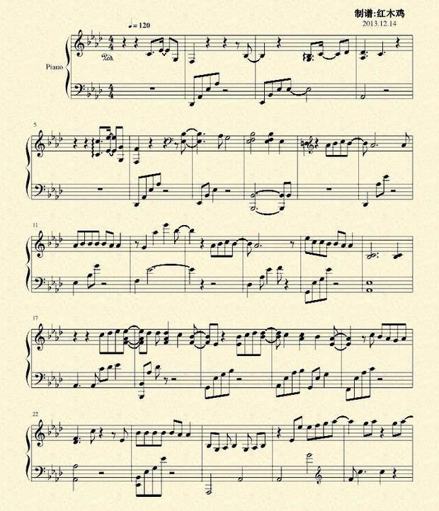 四月钢琴曲谱子-十二月的奇迹钢琴谱