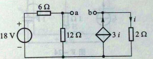 电路分析,求单口网络戴维宁等效电路的开路电压和输出电阻