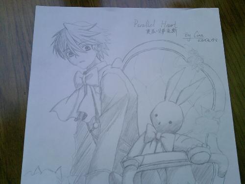 简单的日本动漫人物铅笔画