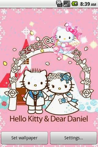 简洁有趣的桌面 kitty 猫动态壁纸,可以领养可爱