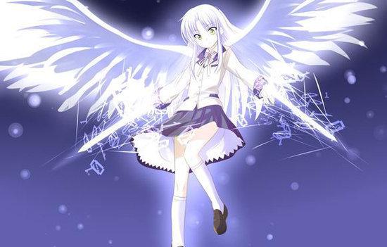 动漫里面有那些银色长头发带翅膀的人