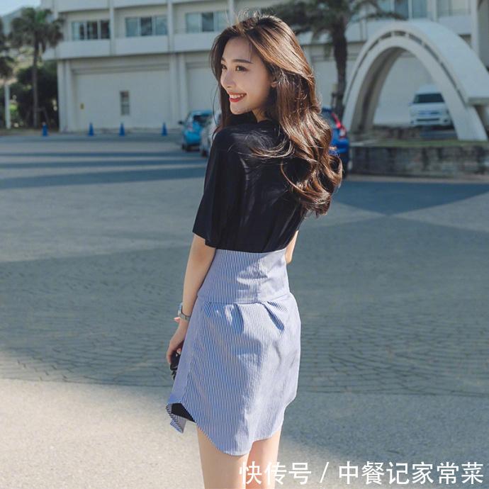 街拍:美女的一条黑丝袜,穿搭出轨也是有学问的美女图片起来图片