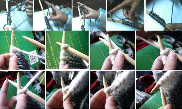 棒针织围巾起针视频_