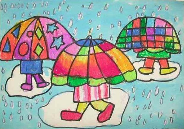 四年级下册美术第三课下雨啰图片图片