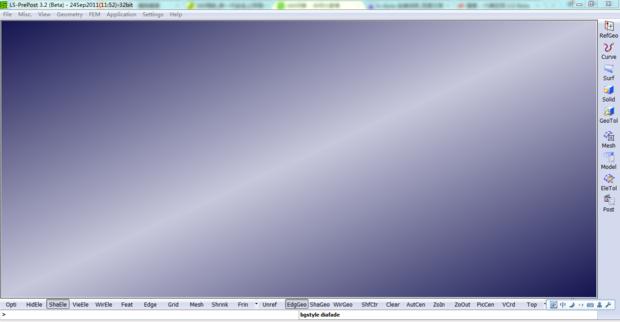 ls-dyna界面显示和大家的不一样,要怎么调整