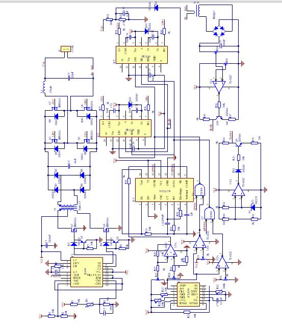 12v/220v车载逆变电源的电路图哪个正确设计