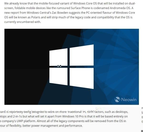 全新Windows 10系统曝光:更轻量化 或2019年推出