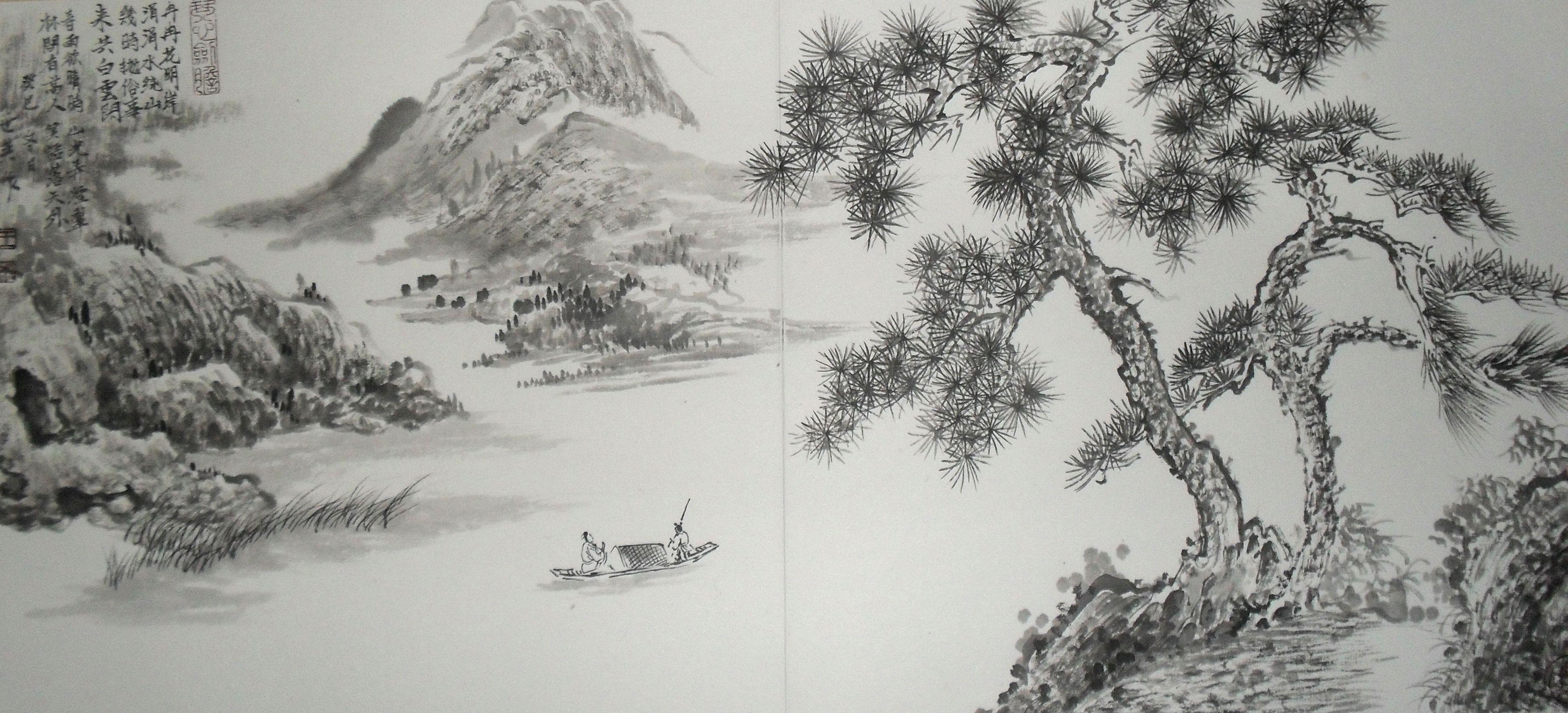 山水画家王世英国画