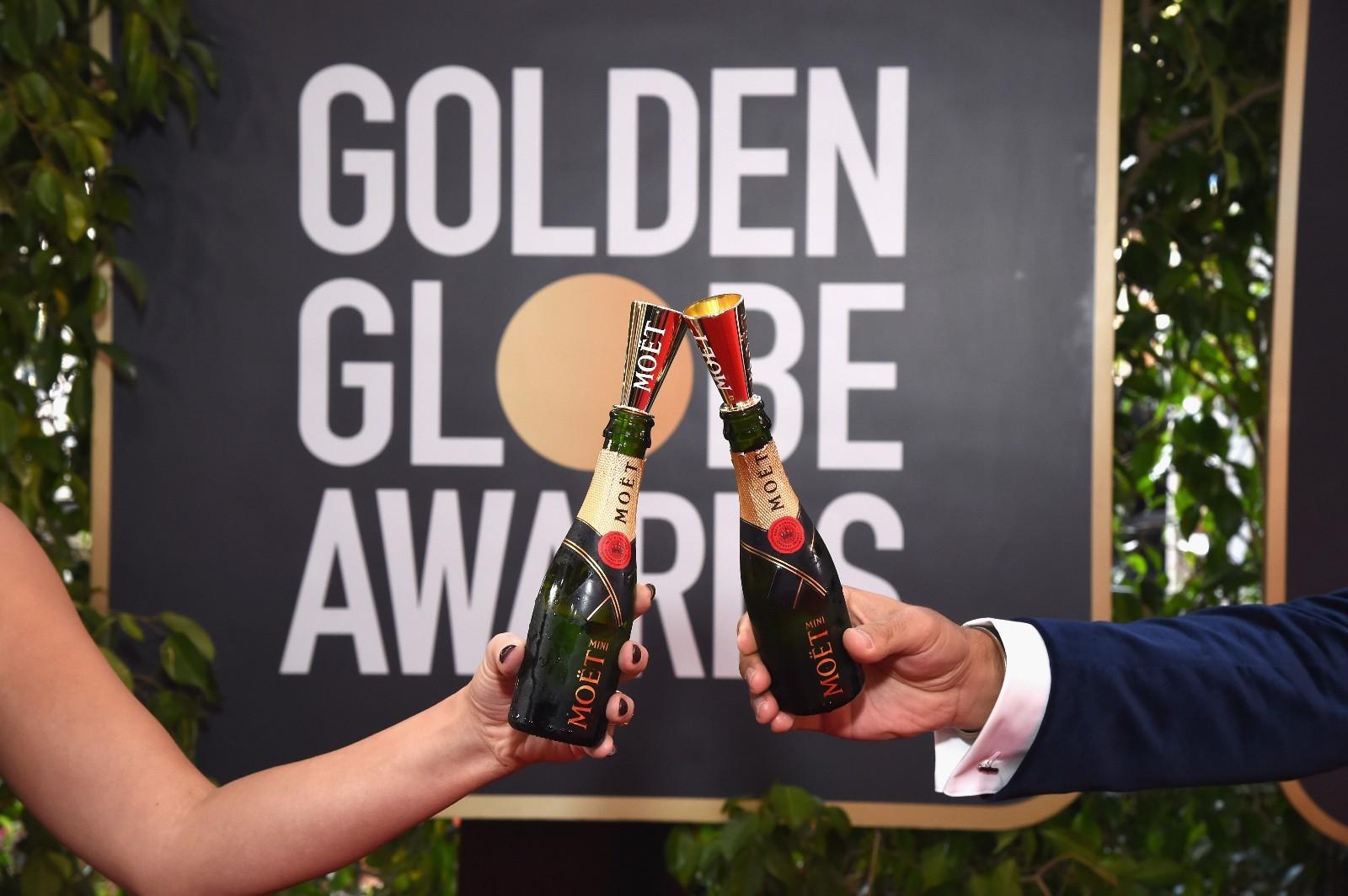 星耀红毯,酩悦在侧 连续28年致庆金球奖,酩悦香槟与众明星共襄盛举