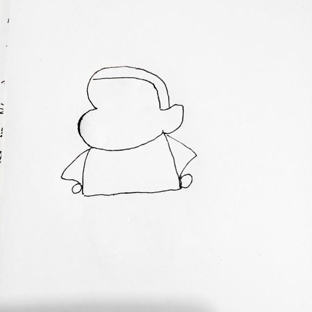 幼儿创意简笔画|萌萌的蜡笔小新,几步就完成了,你也可以哦!