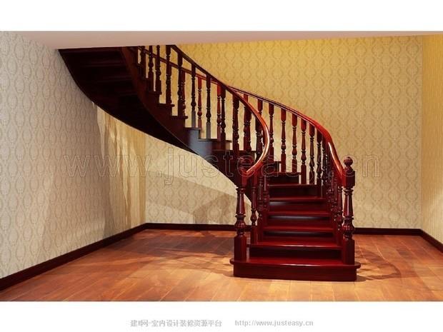 实木弧形楼梯分解方法