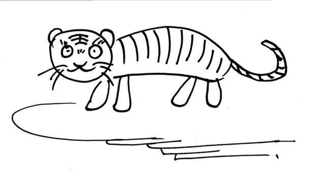 小老虎简笔画图片大全